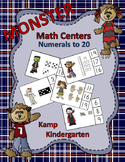 Halloween Monster Math Centers Numerals to 20