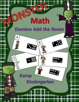 Halloween Monster Math Domino Add the Room