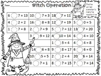 Halloween Monster Math FREEBIE