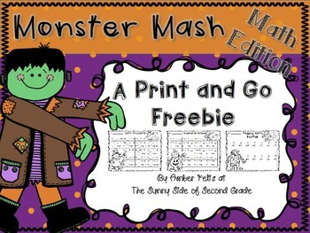 Halloween Monster Math FREEBIE