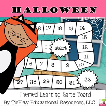Halloween Monster Math Learning Game Board