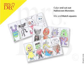 Halloween Monster Mix Ups ** ORIGINAL ARTWORK