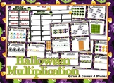 Halloween Monster Multiplication - arrays, number lines, area, skip counting