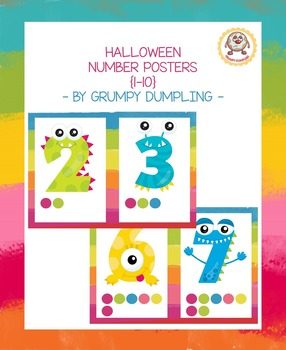Halloween Monster Number Posters {1-10}