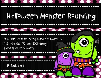 Halloween Monster Rounding to the Nearest 10 and 100 {Halloween Theme}