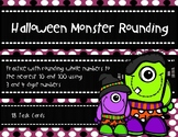 Halloween Monster Rounding to the Nearest 10 and 100 {Hall