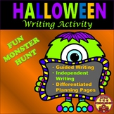 Halloween Paragraph Writing Activity and Monster Craft with Graphic Organizers