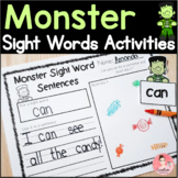 Halloween Monster Sight Words Kindergarten Literacy Activities