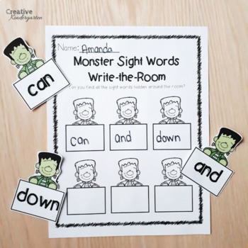 Halloween Monster Sight Words Kindergarten Literacy Activities