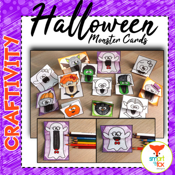 Halloween Monster Surprise Cards Craftivity