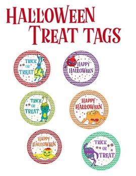 Halloween Monster Treat Tags