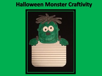 Halloween Monster Writing Craftivity