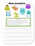 Halloween - Monster-making writing activity