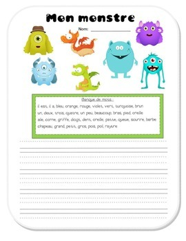 Halloween - Monster-making writing activity