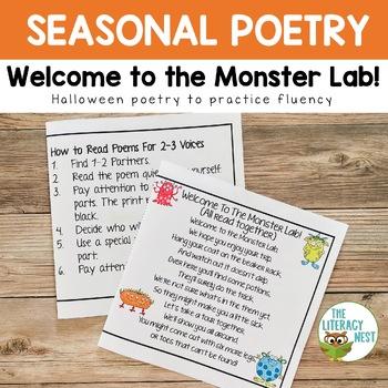 Poetry for Fluency Practice ~Monster Theme~