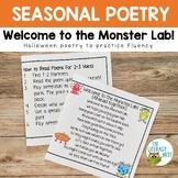 Halloween Poetry for Fluency Practice Monster Theme
