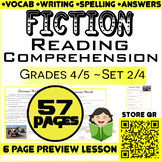 Fiction Reading Passages & Questions | Set 2/4 | ELA Centers | Grade 4-5
