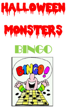 Halloween Monsters Bingo