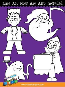 Halloween Monsters Clip Art