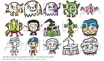 Halloween Monsters Clip Art (22)