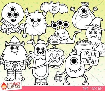 Halloween Monsters Clipart