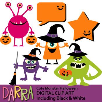 Halloween Monsters Clipart By Darrakadisha Teachers Pay Teachers