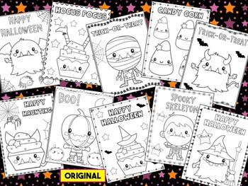Editable Halloween Monsters Coloring Pages The Crayon Crowd By Piggy Moon