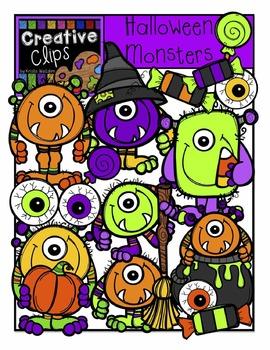 Halloween Monsters {Creative Clips Digital Clipart}