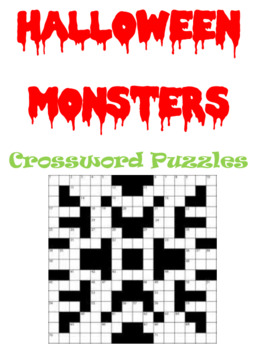 Halloween Monsters Crossword Puzzles