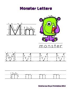 Halloween Monsters PreK Printable Learning Pack - Part 1
