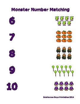 Halloween Monsters PreK Printable Learning Pack - Part 3