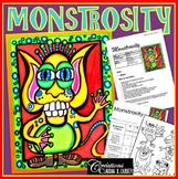 Monster Art Lesson - Halloween, How to Draw a Monster - Monstrosity