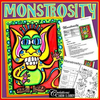 Monster Art Lesson Halloween How To Draw A Monster Monstrosity