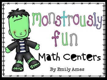 Halloween Monstrously Fun Math Centers  1-20, skip count 5