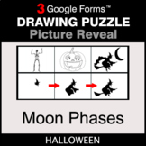 Halloween: Moon Phases - Drawing Puzzle   Google Forms