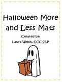 Halloween More and Less Mat