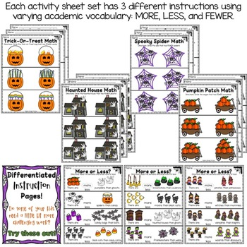 Halloween More or Less Math