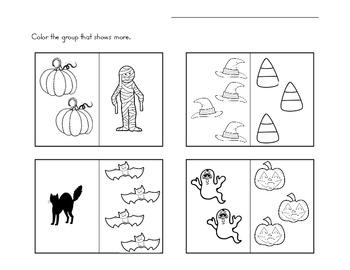 Halloween More/Less Practice