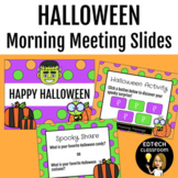 Halloween Morning Meeting Slides | Distance Learning Zoom