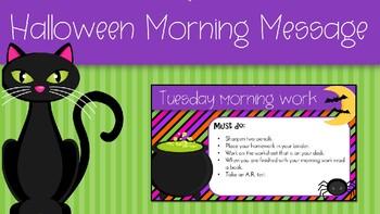 Halloween Morning Message
