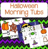 Halloween Morning Tubs and Centers