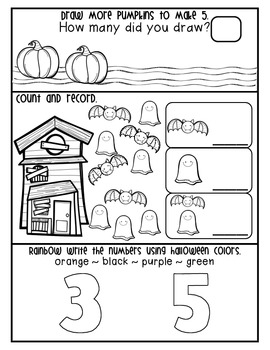 Halloween Morning Work (Common Core Aligned)