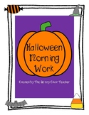 Halloween Morning Work