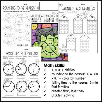 Halloween Math Packet