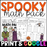 Halloween Math Packet: My Spooky Math