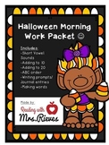 Halloween Morning Work Packet