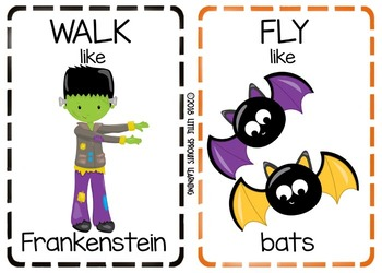 Halloween Movement Cards (Transition Activity or Brain Breaks)