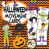 Halloween Movement Cards - - Brain Breaks (Transition activity)