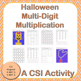 Halloween Multi-Digit Multiplication CSI Activity