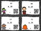 Halloween Multi-Digit Multiplication QR Code Task Cards, SCOOT, and Board Game